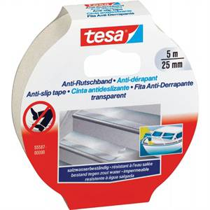 Skridsikker tape Tesa, 5 m, 25 mm transparent