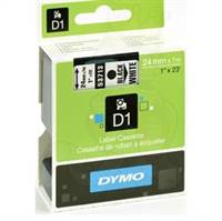 Dymo tape, 53713, 24mm Sort på hvid