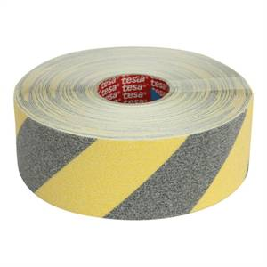 Skridsikker tape, Tesa® 15 m, 50 mm, sort/gul